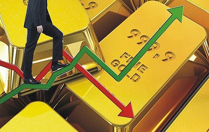 Vàng Phiên Mỹ Giảm Xuống 1.800 USD, Rủi Ro Thị Trường Tăng Mạnh